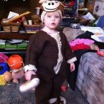 Knitted Halloween Costume – Knitted Monkey