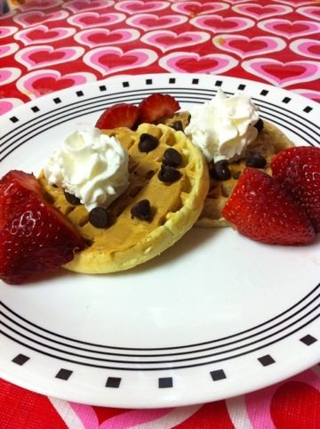 Tandy Cake (Chocolate and Peanut Butter) Waffle recipe