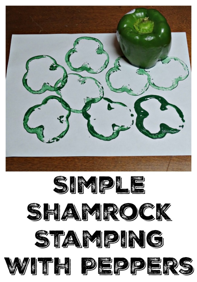 Easy St. Patrick's Day crafts, Shamrock Stamps