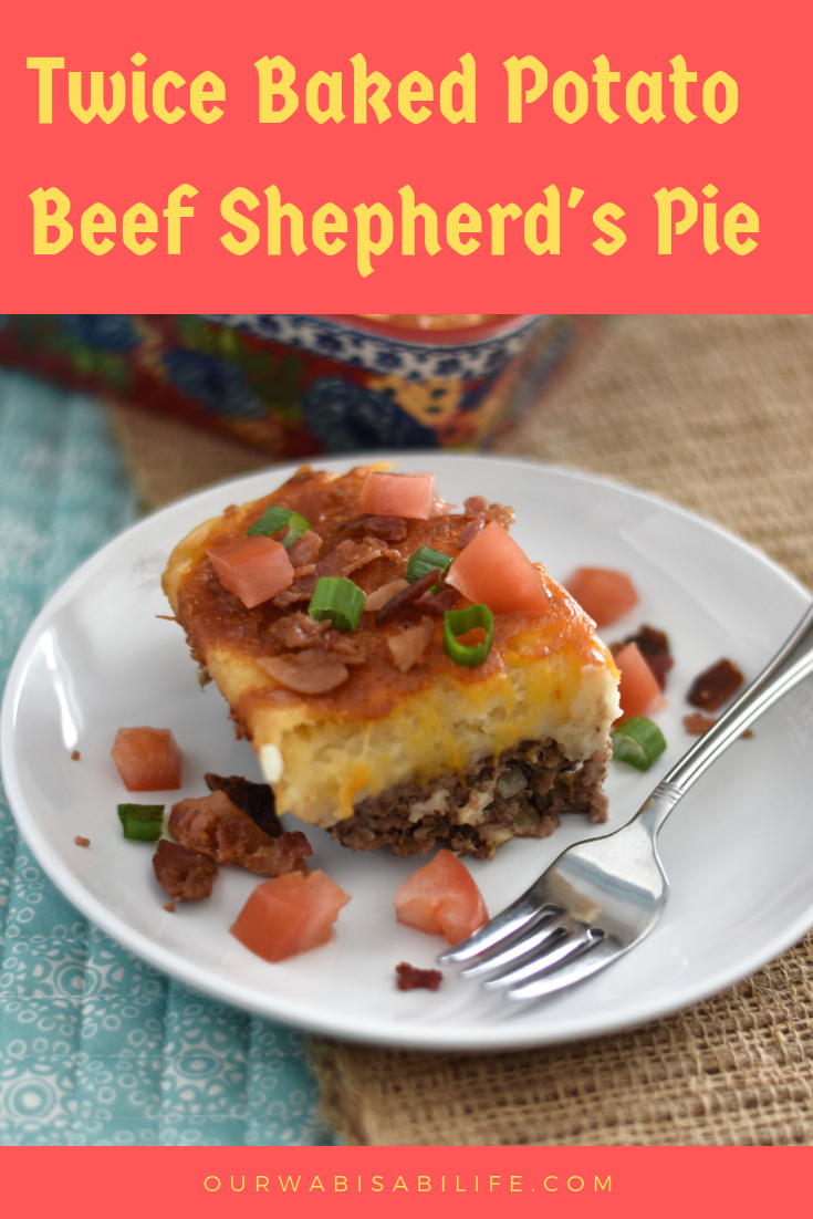 Looking for a Beef Shepherd's Pie recipe? You will love this easy shepherd's pie recipe. Made with beef, bacon and topped with a twice baked potato casserole, this will become a dinner classic in your home.