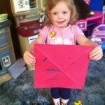 Making a kite- Toddler Tuesday