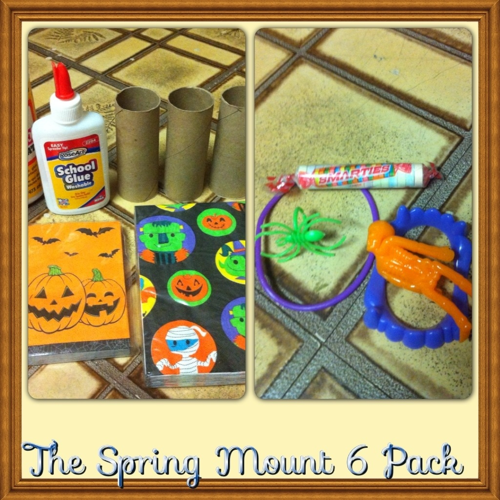 Halloween craft with recycled Toilet paper roll