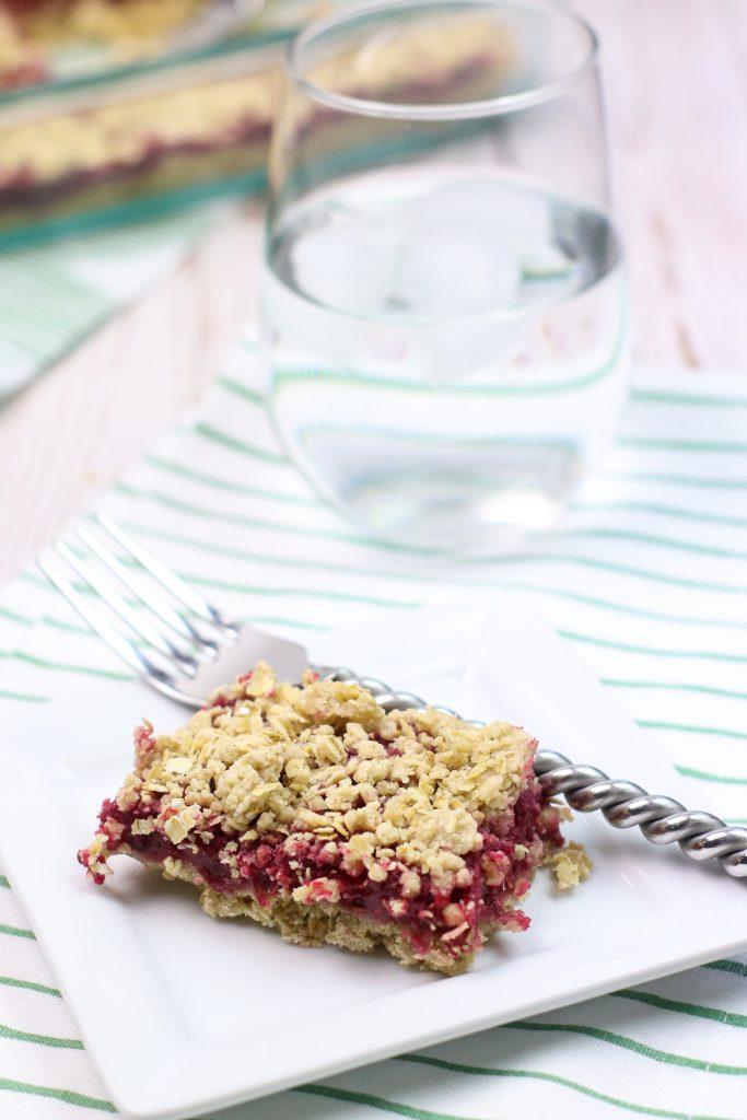 skinny raspberry oatmeal bars recipe