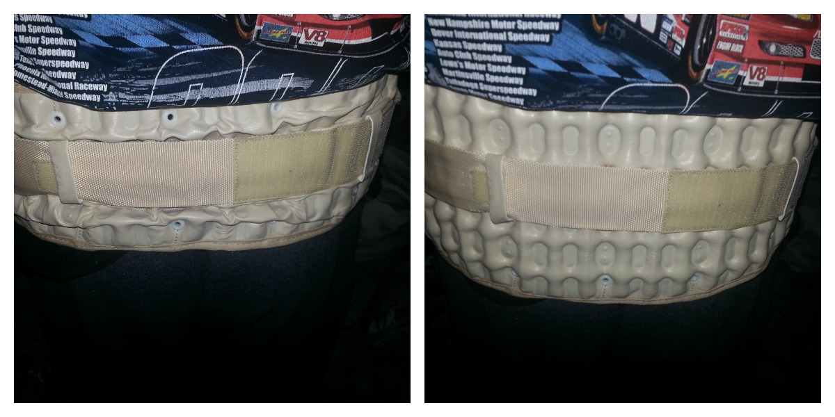 decompression belt before and after