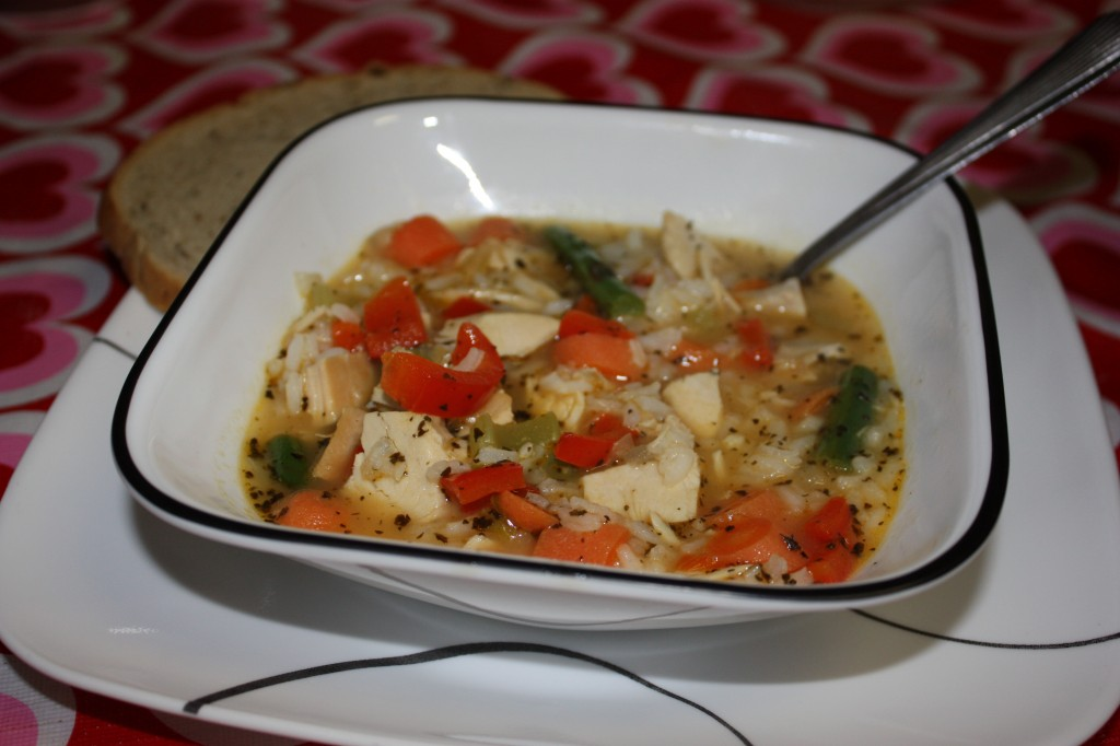 Why not make Leftover turkey soup, with rice and vegetables. Quick, easy and delicious.