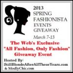 Fashionista Giveaway Event- Giveaways March 7- 13th