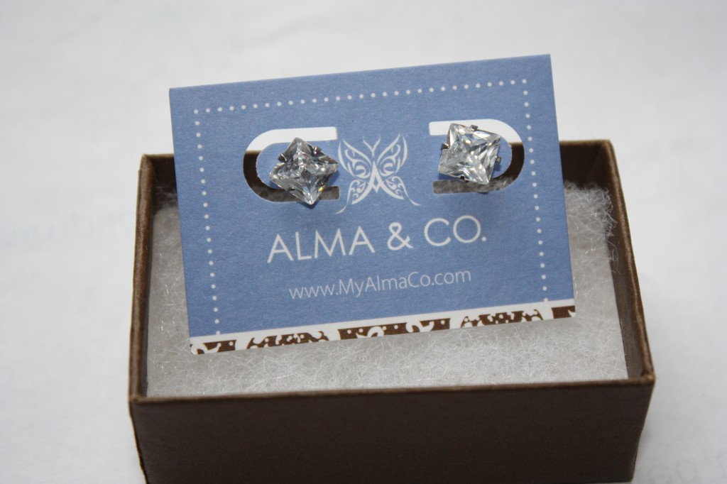 CZ Princess Stubs from Alma & Co.