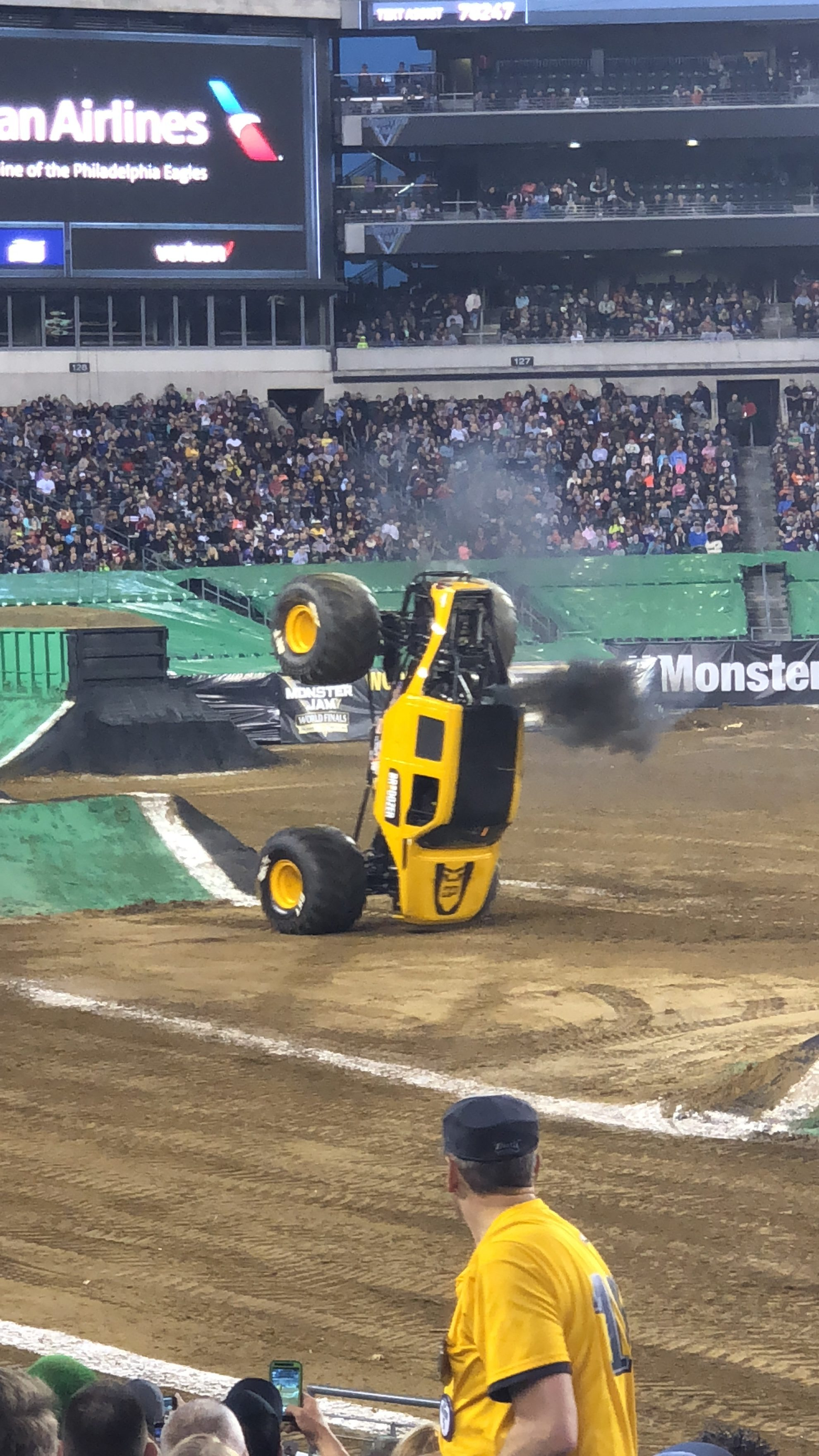 Monster Jam Truck on front wheels