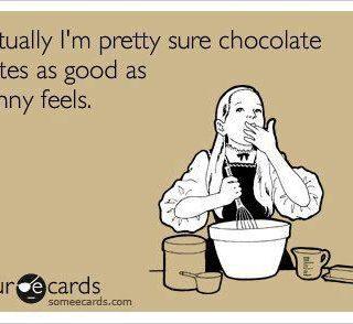 Chocolate tastes as good as skinny
