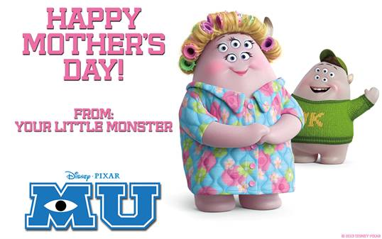 Monsters U Mothers Day Card