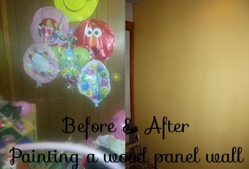 Painting a wood panel wall