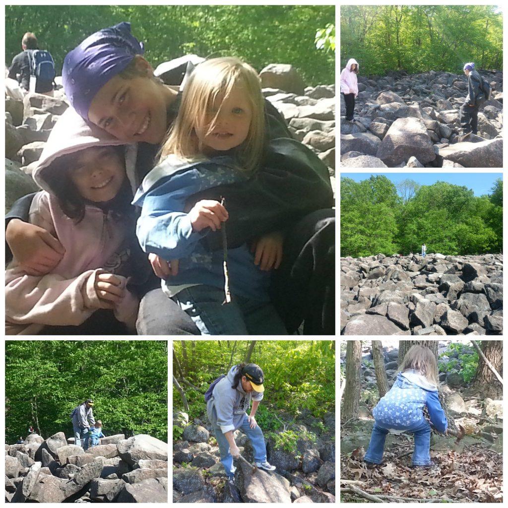 Pictures of Ringing Rocks - Climbing Ringing Rocks