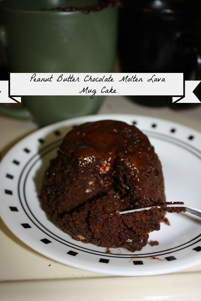 Peanut Butter Chocolate Molten Lava Mug Cake