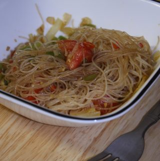 Drunkard Noodles is a simple, quick dinner. It is a quick meal to make with stir-fry rice noodles, which are super thin then it is flavored with soy sauce, basil and lemon zest. It is also perfect for less than $10 dinner.