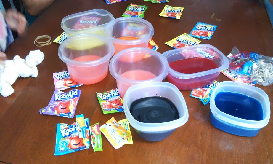 Kool-Aid Kool Creation- Tie Dying with Kool-Aid