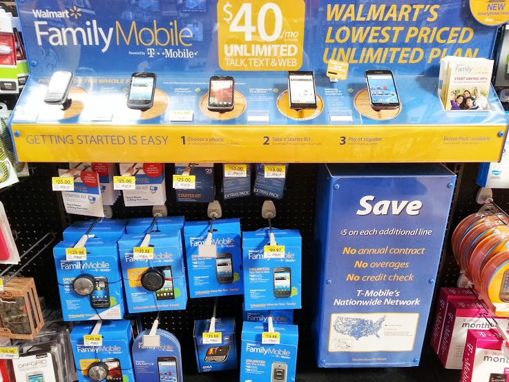 Walmart Family Mobile Unlimited plans $40