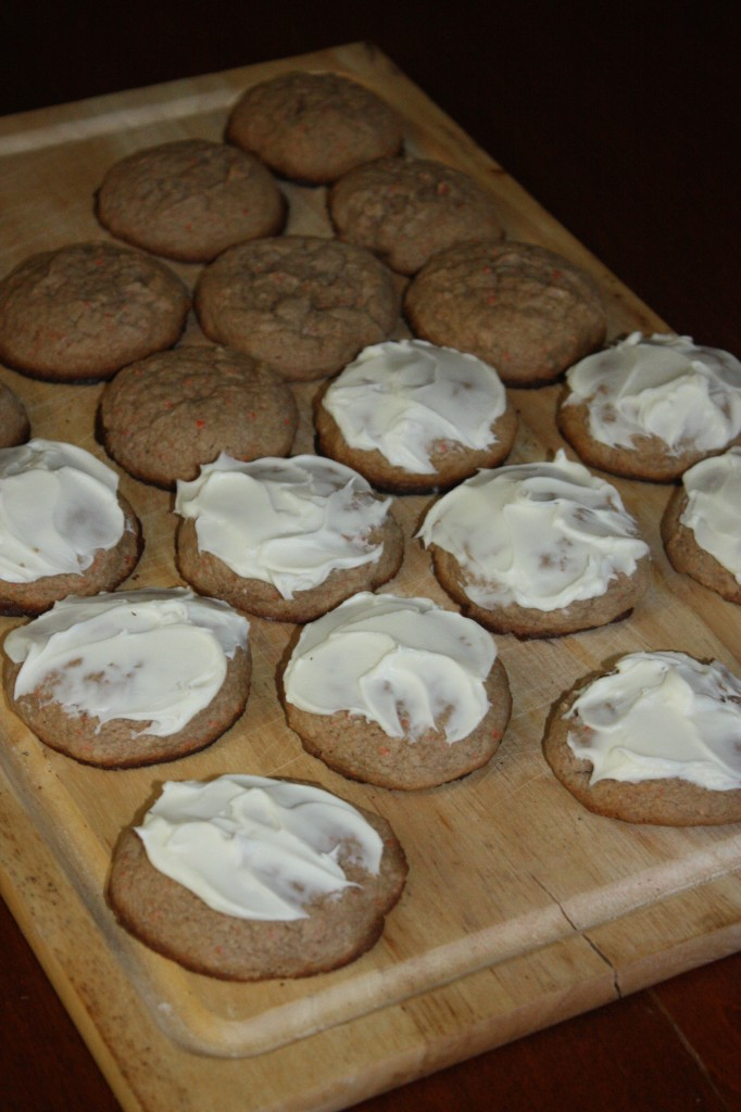 Cheater Carrot Cake Cookies using cake Mix