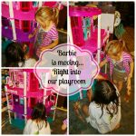 Barbie is moving… into our playroom