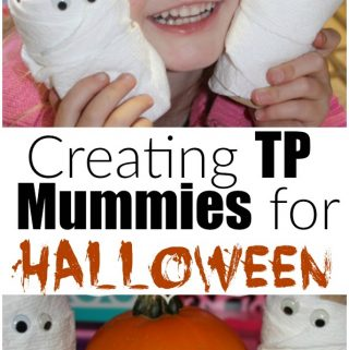 Creating TP Mummies for Halloween is a simple Halloween craft with things you have in the house already. Great Halloween craft for kids