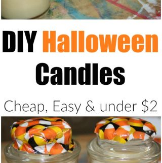 DIY Halloween Candle: Cheap, Easy and under $2
