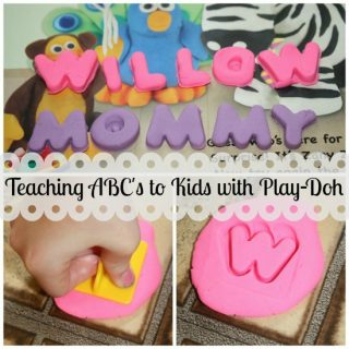 Fun way to teach letters to kids- with Play Doh