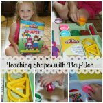 Practicing ABC's and Shapes with Play-Doh
