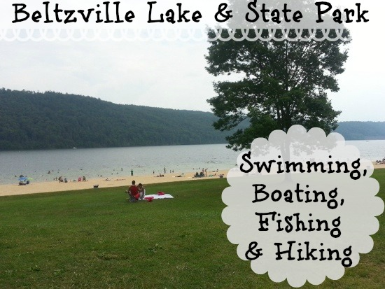 Beltzville Lake and State Park for swimming, boating and fishing in Southeast PA