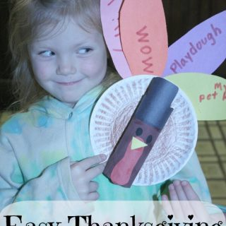 Easy Thanksgiving Craft for Kids- Thankful Toilet Paper Turkey