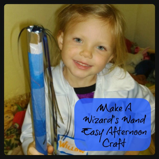 Make a Wizard's Wand- Easy Craft for kids