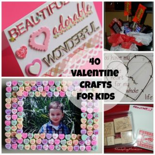 40 Valentine's Day Crafts for Kids. Perfect for the season.