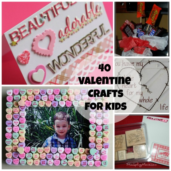 Looking for Valentine's Day crafts for kids. Here are 40 fun ideas that your kids will love to make for fun or for gifts.