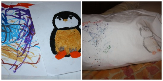 Crafting with Crayola- Making a Pillow case from drawings