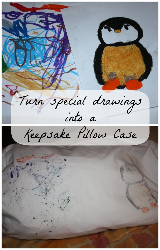 Crafting with Crayola- coloring on a pillow case with crayons
