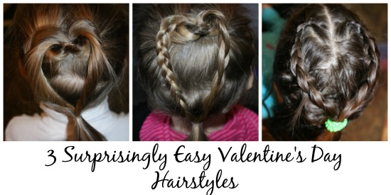 3 Heart Hairstyles