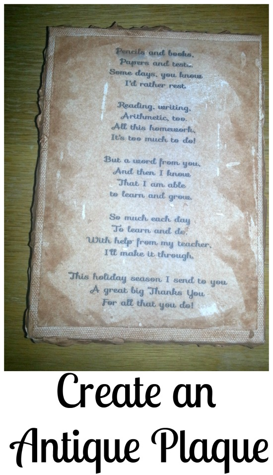 Make an antique plaque- Perfect for gifts or decorative art