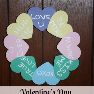 Looking for something cute to make for Valentine's Day. Try this Simple Sweetheart Valentine's Day wreath craft that can made in less than an hour.