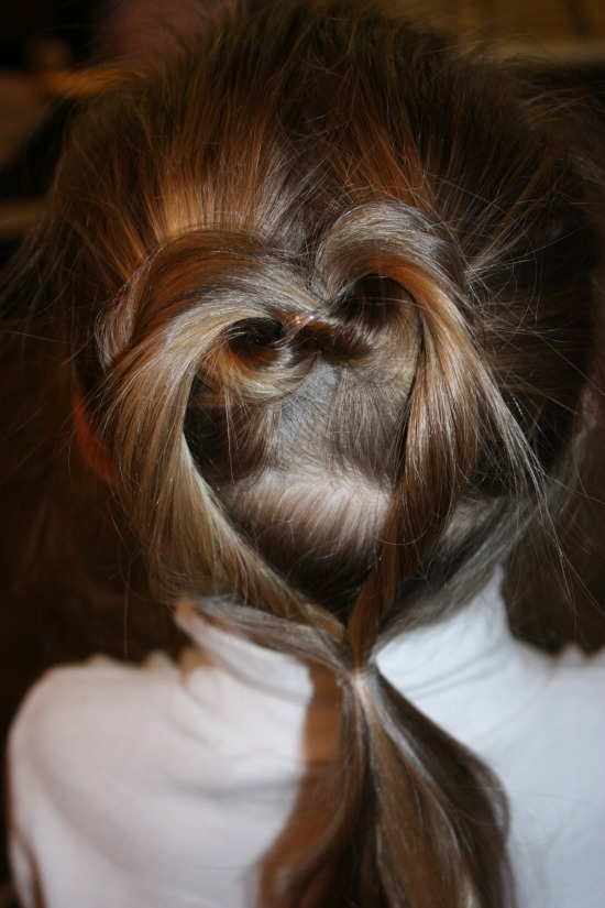 Twisted Heart Hair Style