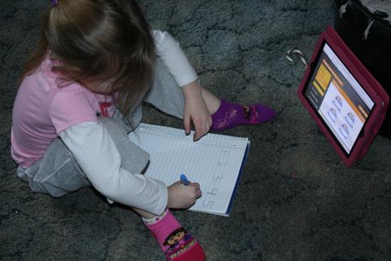 Willow writing math for chalk preschool
