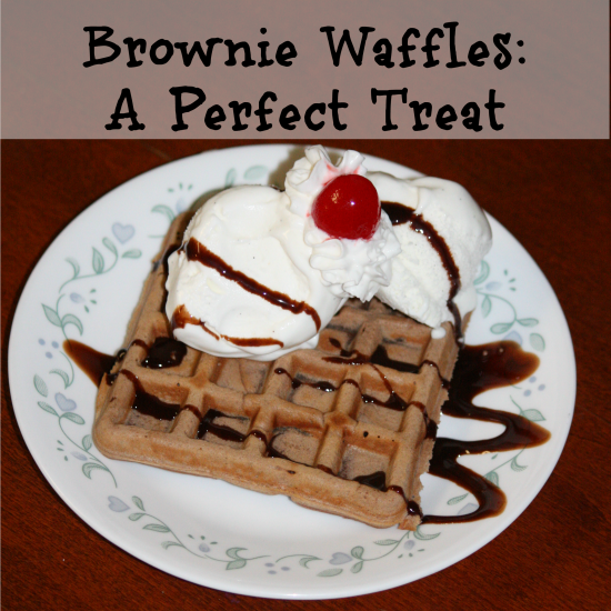 Brownie Waffles A perfect treat