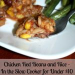 Chicken, Red Beans and Rice in the slow cooker
