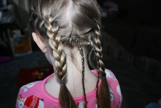 Getting the Disney's Tangled Braid 2 side braids
