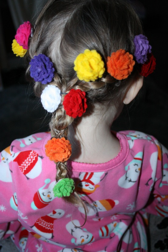Getting the Disney's Tangled Braid Add flowers