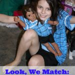 Look, We Match: A Girl and Her Doll