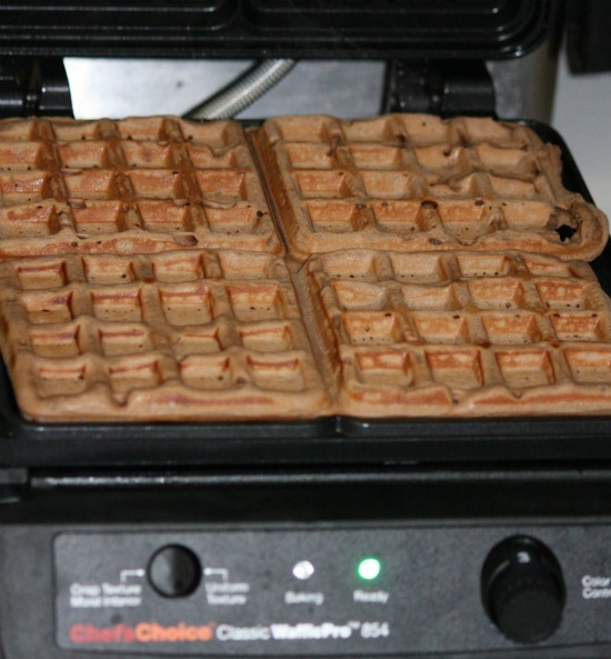 Making Brownie Waffles