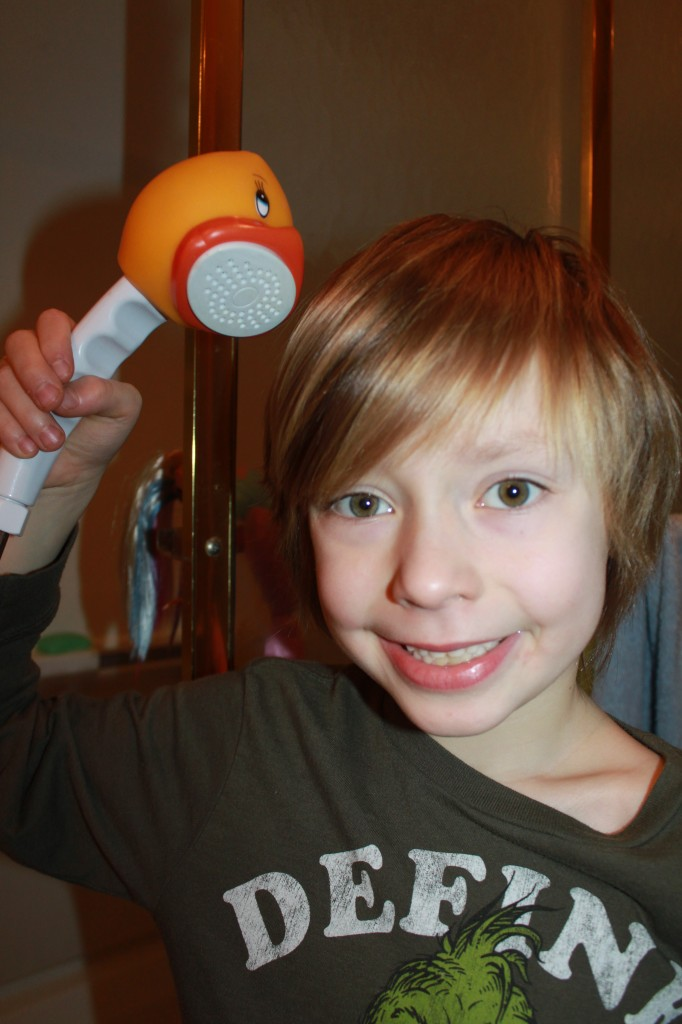 Duckie and Friends Shower Head- Perfect for kids learning to shower
