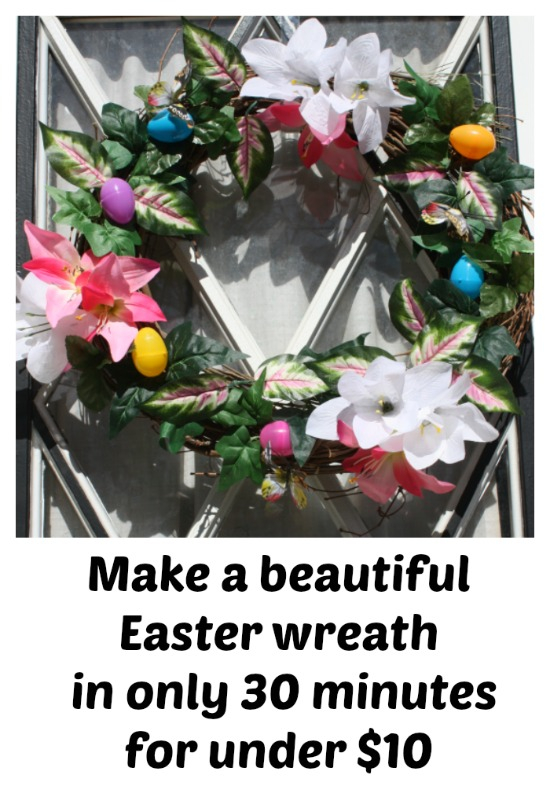A beautiful Easter wreath, in only 30 minutes, for Under $10