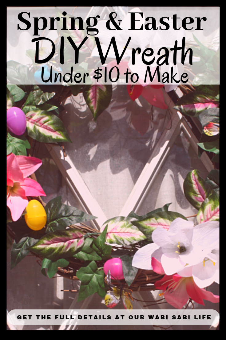 Make this beautiful Spring or Easter wreath in 30 minutes for $10. It makes a beautiful Easter decoration on a budget. A fun and easy Spring craft.