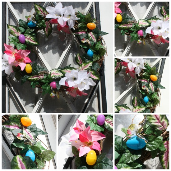 Easter Wreath using supplies from Dollartree.com