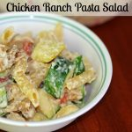 #AD Chicken Ranch Pasta Salad Using Tyson Grilled and Ready Chicken