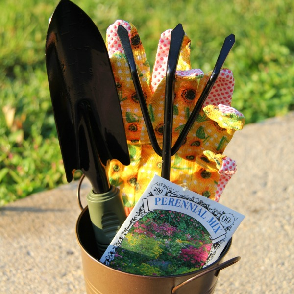 Close up of the tools for the cute craft for gardeners